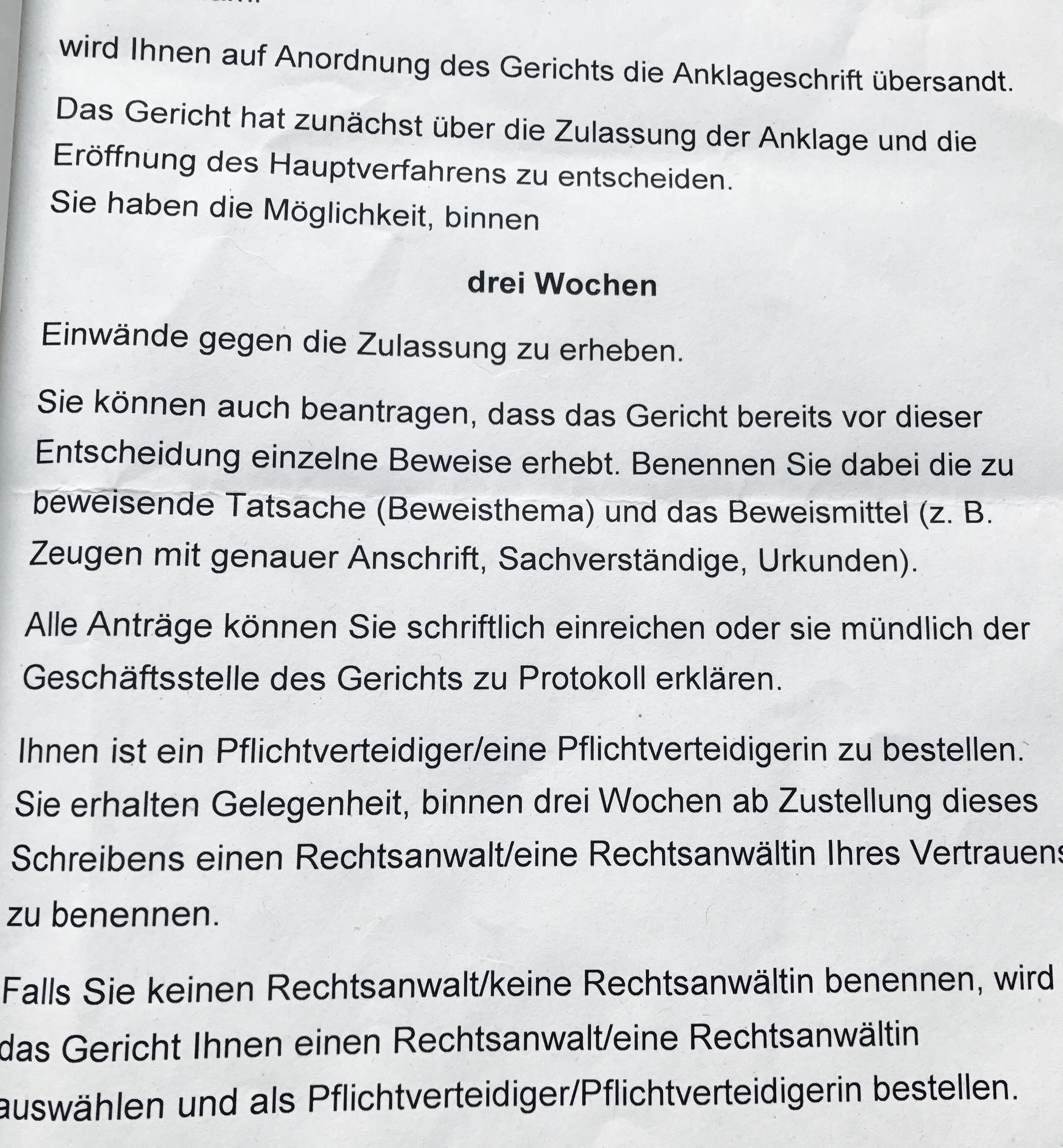 Kanzlei Louis & Michaelis Rechtsanwälte und Strafverteidiger Anklageschrift erhalten Rechtsanwalt