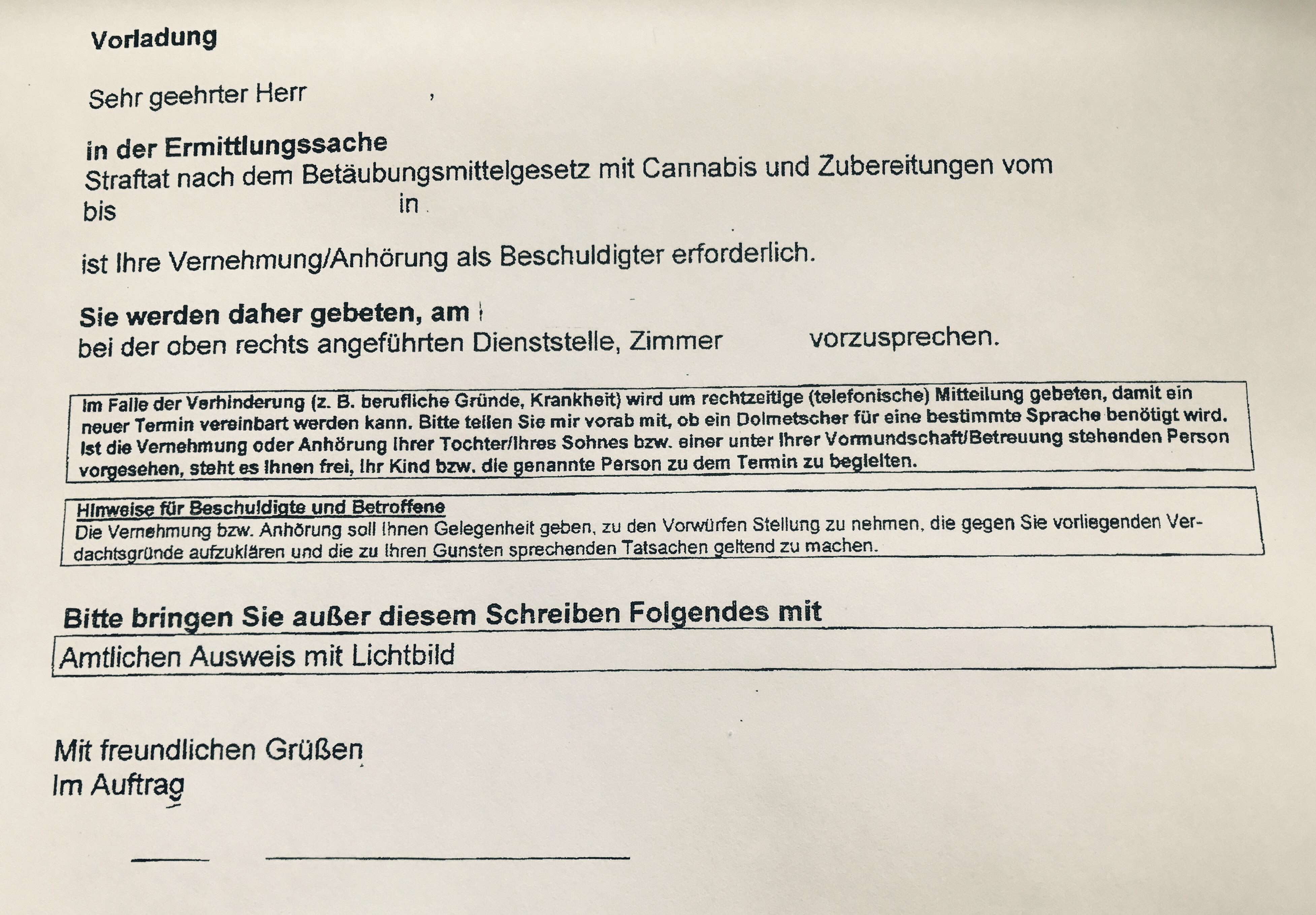 Kanzlei Louis & Michaelis Internet Drogen bestellt Darknet Vorladung Ermittlungsverfahren Anwalt